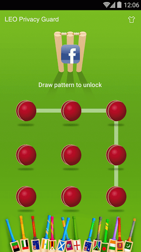 Tema do AppLock - Cricket