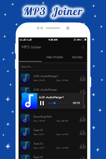 Fusão de áudio: MP3 Joiner
