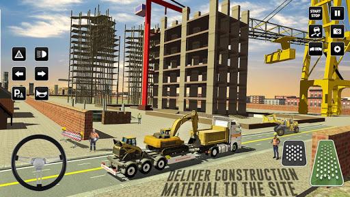 Simulador de Construção: City Truck Parking Game 3d