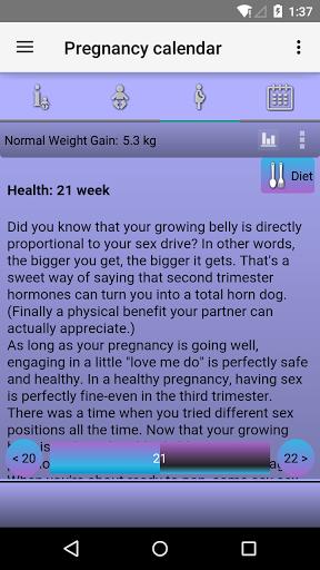 Calendário da gravidez