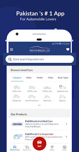 PakWheels: Compre e venda carros